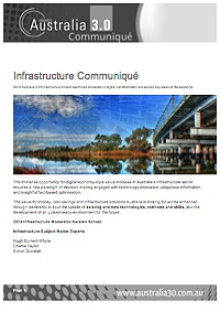 Australia 3.0 Infrastructure Communique_tmb