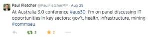 A30 tweet Hon Paul Fletcher MP